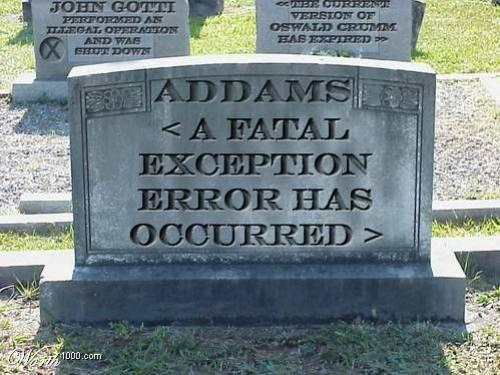 fatal exception error