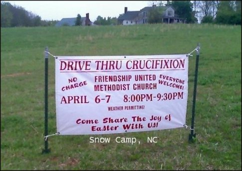 drive thru crucifixion